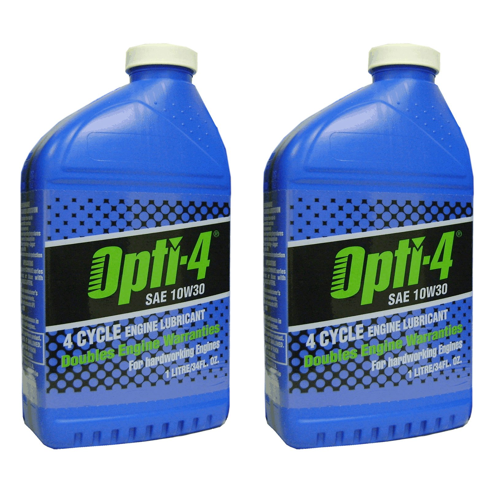 Opti-4 43121 SAE 10W30 34Oz 4-Cycle Engine Lubricant for Engines to 31hp, 2-Pack by Opti-2
