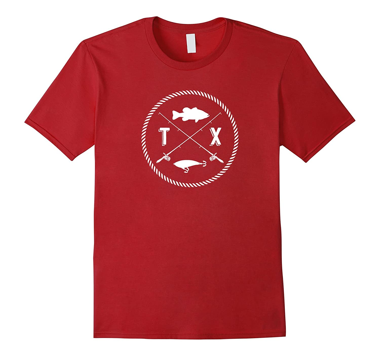 Mens Texas fishing T shirt Asphalt-Tovacu