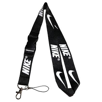 Sports Nike Lanyard Black \u0026 White Neck Strap Keychain ID Holder Keyring for  Keys Phones Bags from JHAMLIN OUTLETS