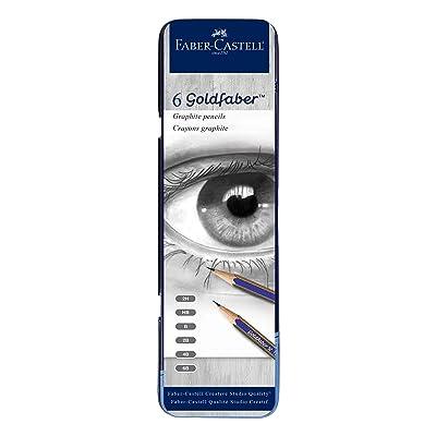 Faber-Castell Creative Studio Graphite Sketch Pencil Set – 6 Graphite Pencils (2H, HB, B, 2B, 4B, 6B): Toys & Games
