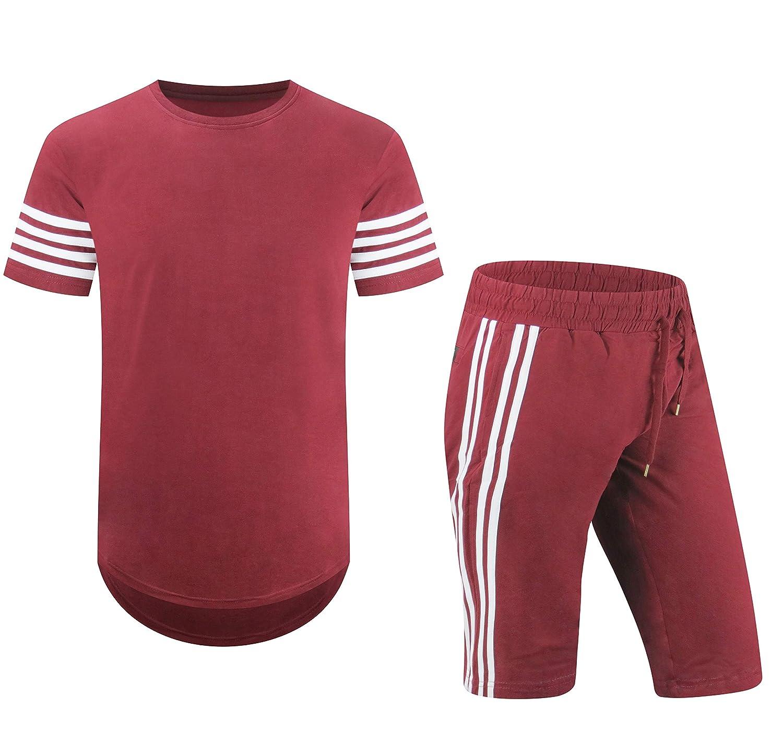 ALMAS APPAREL Basketball Stripe Track Shorts Sweatsuit