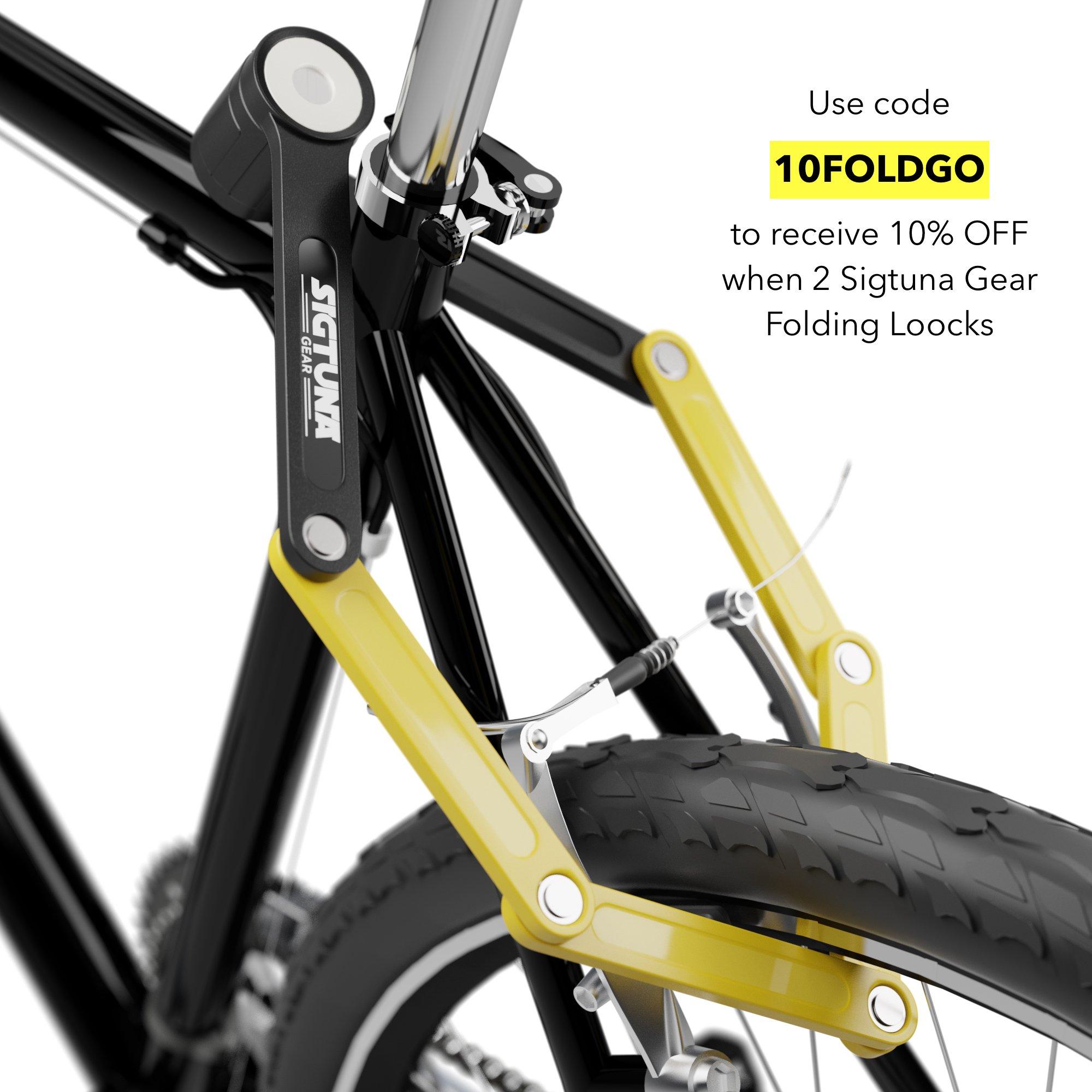 SIGTUNA Folding Bike Lock Heavy Duty Fold Bike Lock Combination with