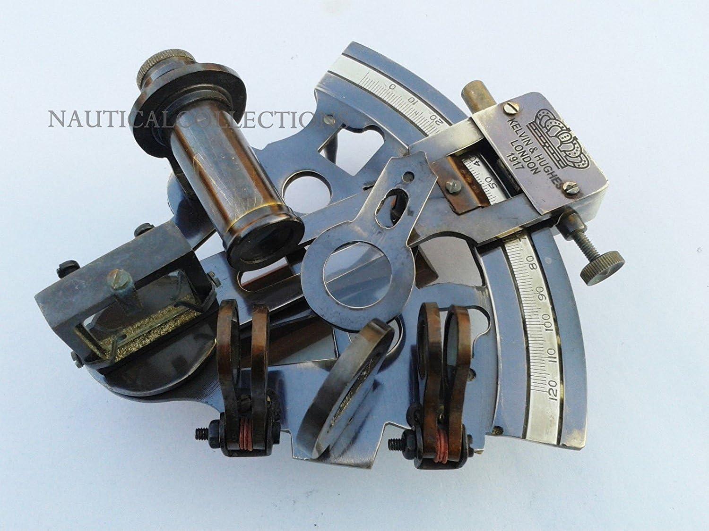 NAUTICAL  Kelvin /& Hughes Vintage Brass sextant MARINE  Maritime Navigational