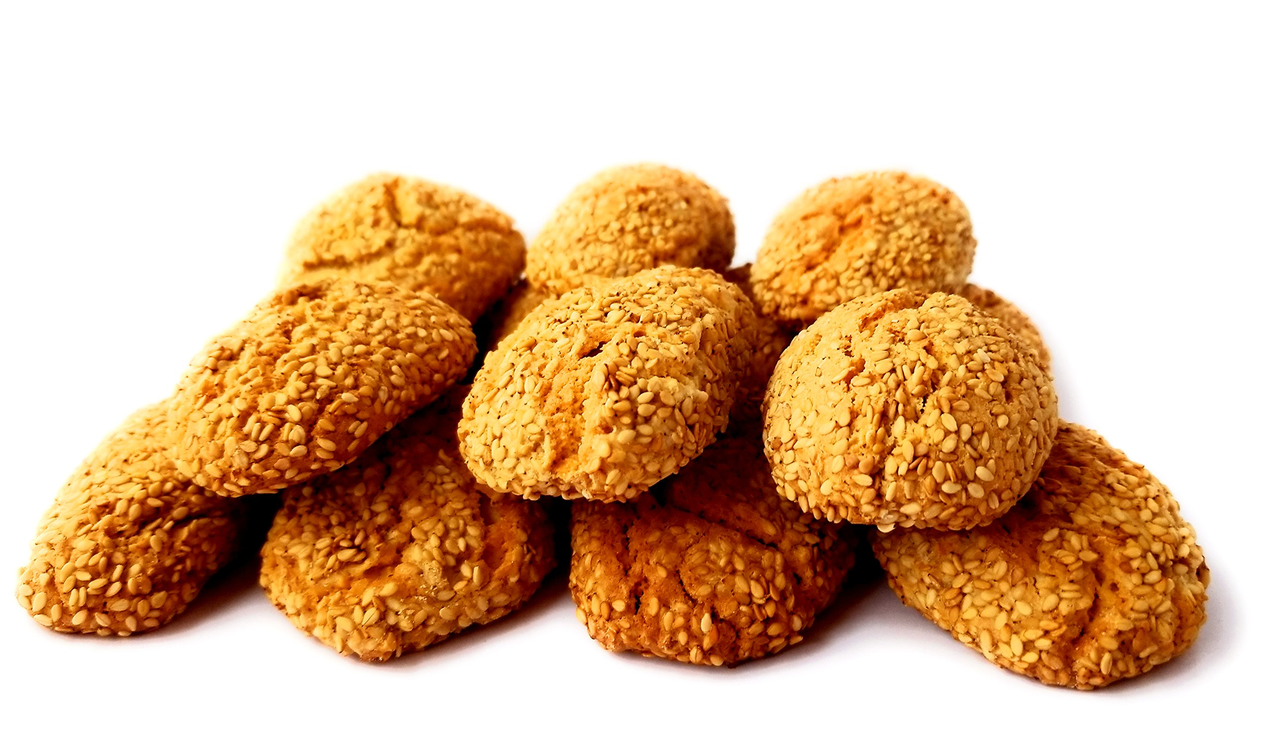 Frank and Sal Bakery: All Natural Italian Sesame Cookies 1 Pound Baked Fresh Daily - Biscotti Di Regina