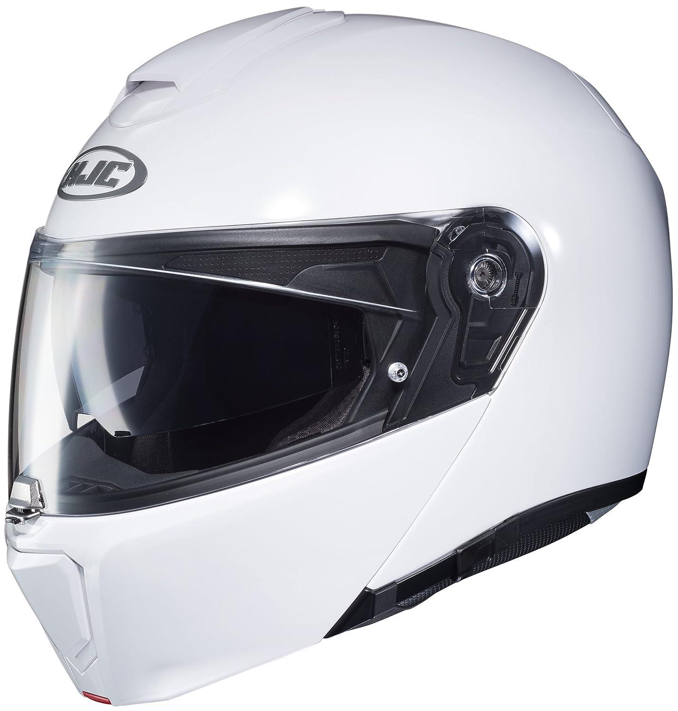 Semi Flat Pearl White//Medium 0808-0149-05 HJC Solid Mens RPHA 90 Modular Street Motorcycle Helmet