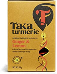 TAKA TURMERIC Organic Golden Ginger 15sach (PACK OF 1)