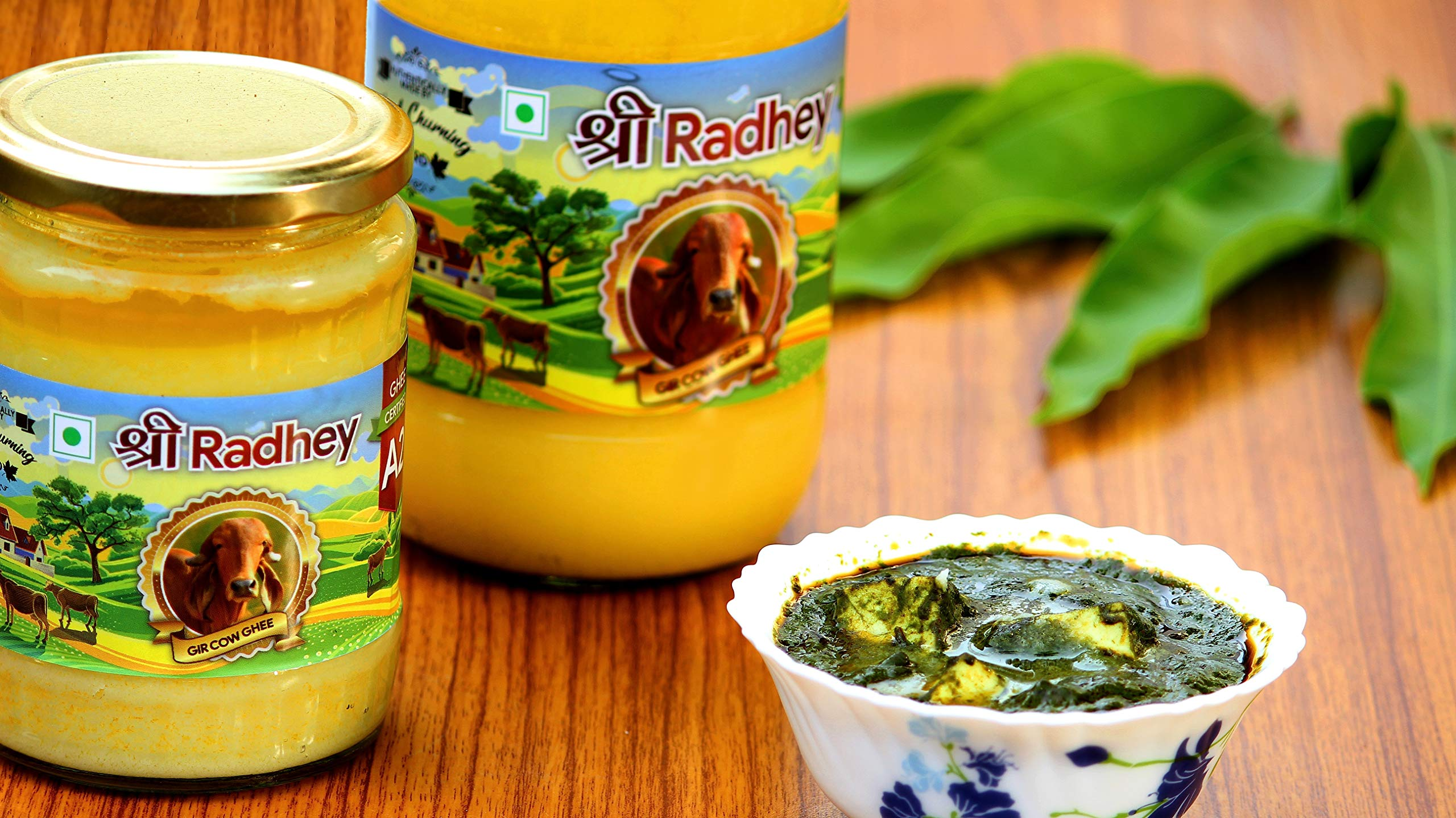 Shree Radhey Certified A2 Gir Cow Ghee - Gluten Free - (Traditionaly Hand Churned) (1000 ml X 2) by Shree Radhey (Image #8)