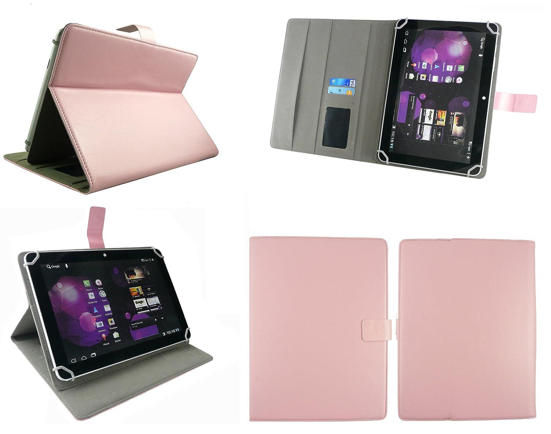 Emartbuy® bq Aquaris M10 Tablet 10.1 Pulgada Universal Range Baby Rosa Ángulo Múltiples Executive Folio Funda Carcasa Wallet Case Cover con Tarjeta de ...