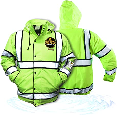 2XL Class 3 Fleece Hoodie Premium PATROL Durable Zipper Construction Work Wear Hi Vis Reflective ANSI Compliant OSHA Approved Safety Jacket No Fuzz Balls or Lint Charlotte, NC KwikSafety