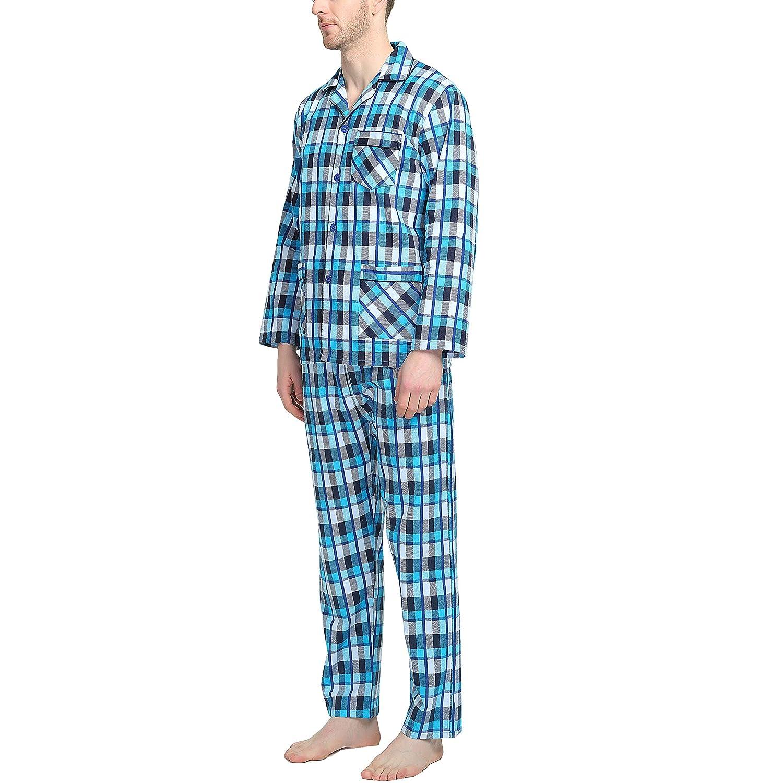 3fb4d5e8c8c5 GLOBAL Mens Flannel Pajamas