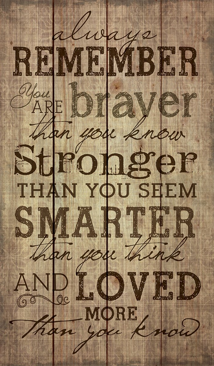 P Graham Dunn Always Remember You are Stronger Than You Know 24 x 14 Wood Pallet Design Wall Art Sign Plaque