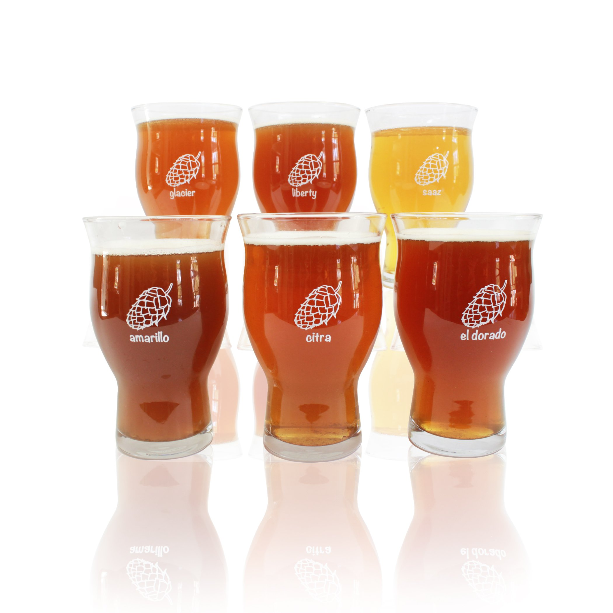 6 Pack 20oz Ultimate Pints - Each Glass is Uniquely Labeled - Never Lose Your Glass at a Party. by Cheers All (Image #1)