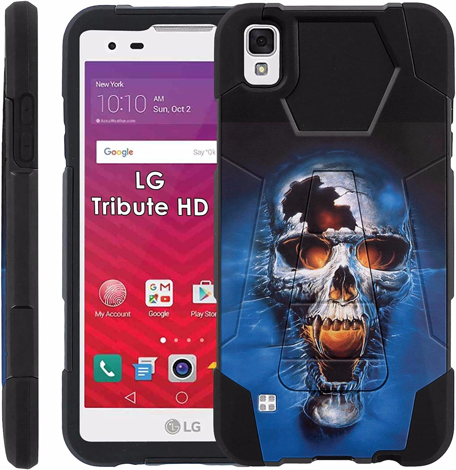 LG Tribute HD Proton Guard Dual Layer Phone Case - Skull Shout