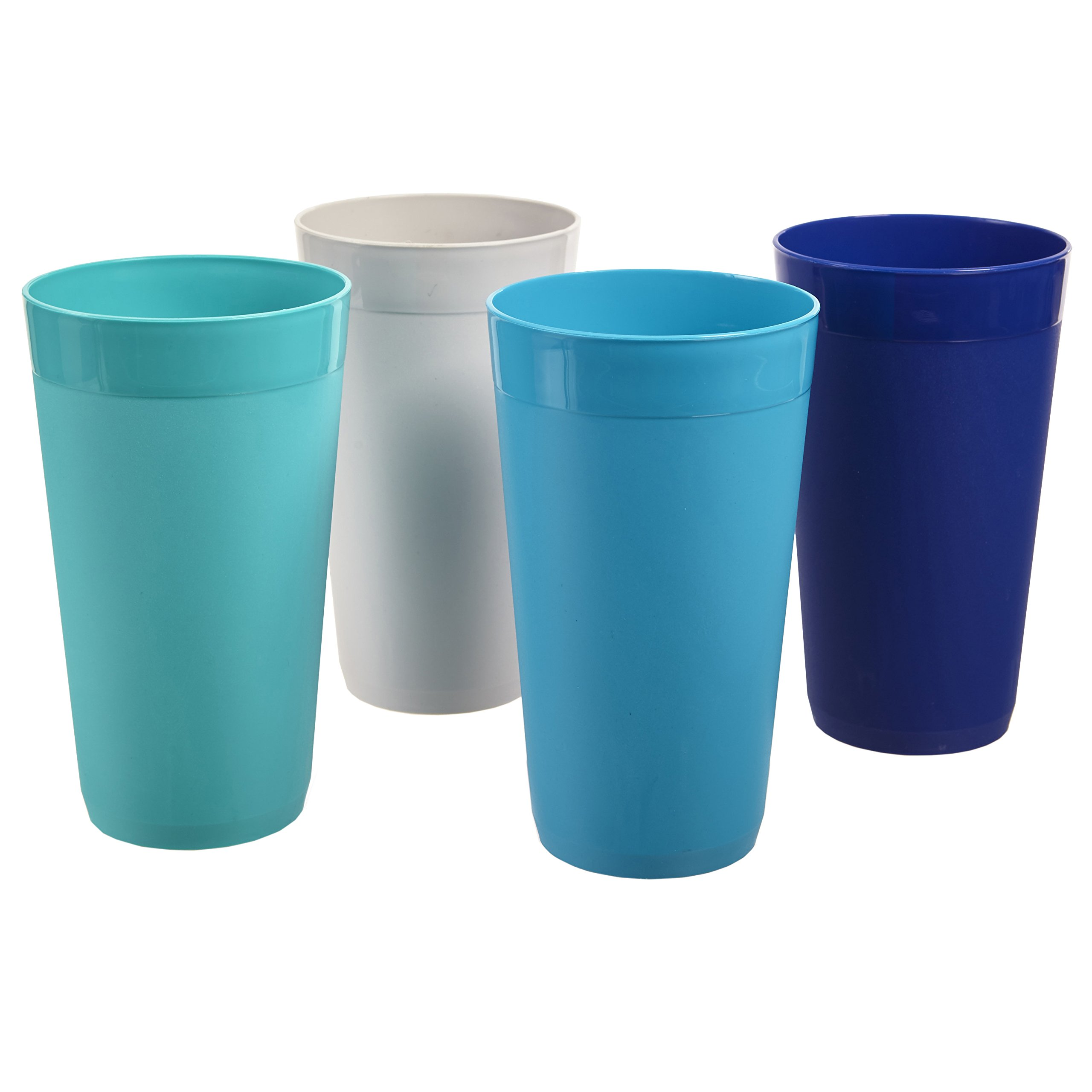 US Acrylic Newport 20-ounce Unbreakable Plastic Tumblers   set of 12 in 4 Coastal Colors by US Acrylic (Image #5)