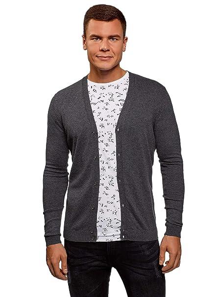 f0edb5d89a oodji Ultra Men's Button-Down Cotton Cardigan