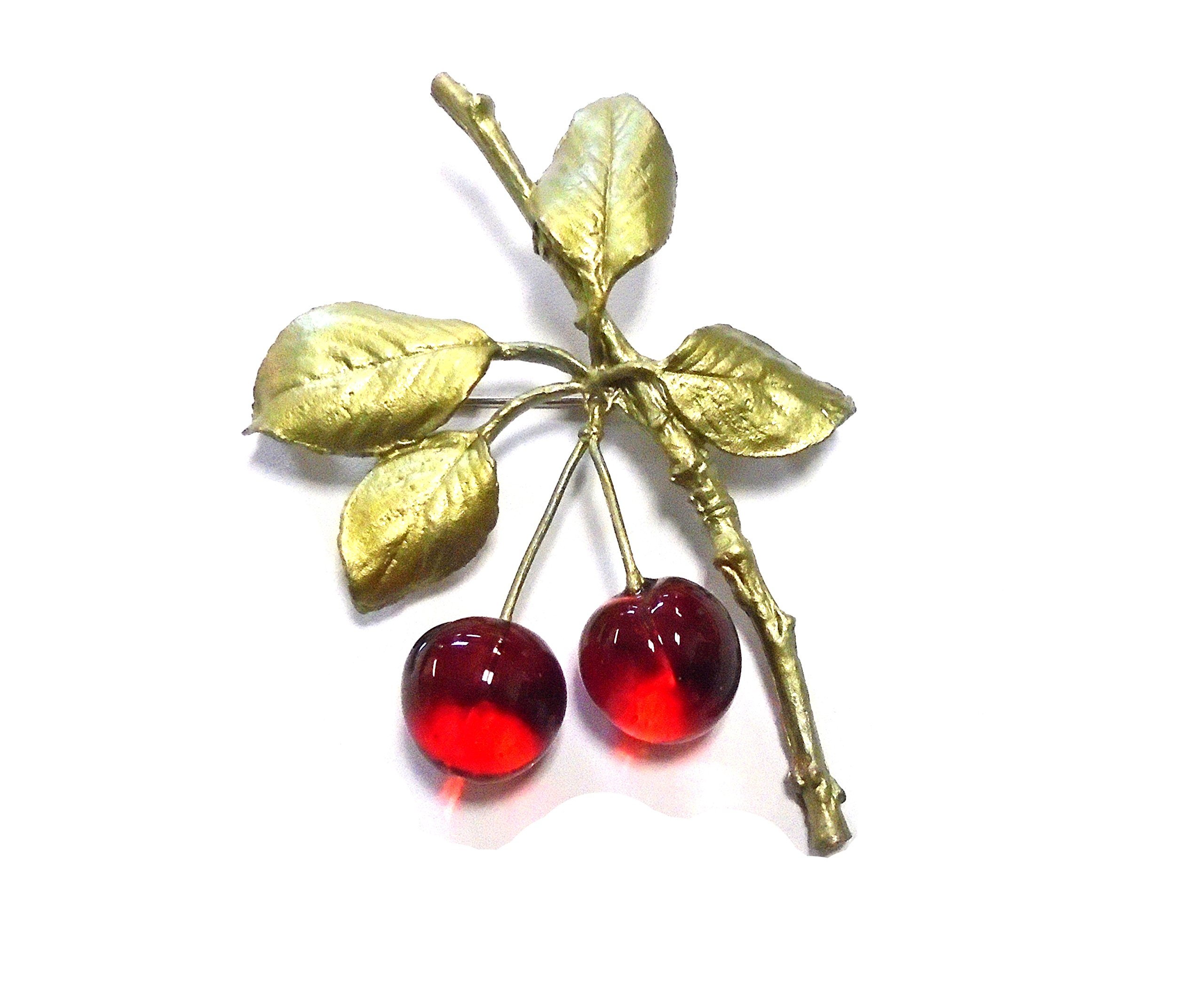 Morello Cherry Pin/brooch By Michael Michaud for Silver Seasons