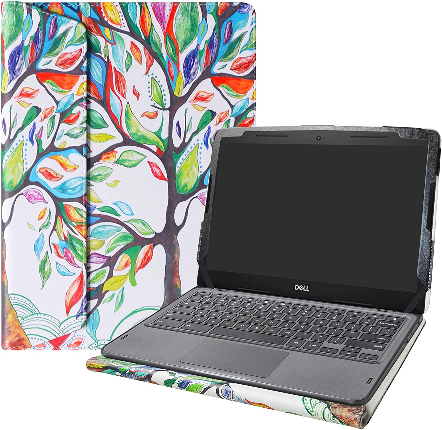 """Alapmk Protective Case Cover for 14"""" Dell Chromebook 3400 Education Laptop[Warning:Not fit Inspiron Chromebook 14 2-in-1 7486],Love Tree"""
