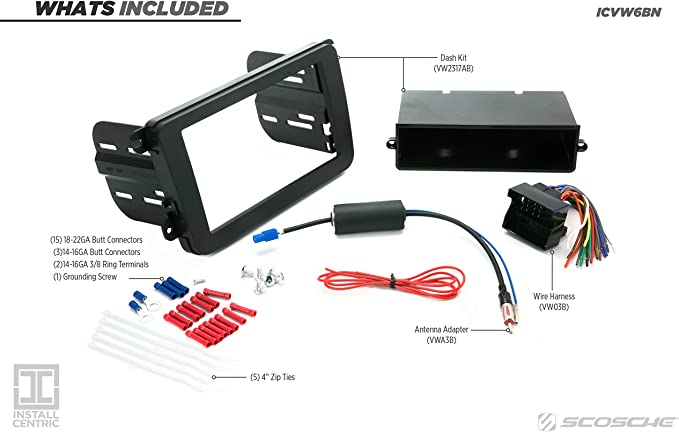 SWC Interface HO54S Radio Stereo Dash Kit Combo SD//DD Wire Harness Antenna