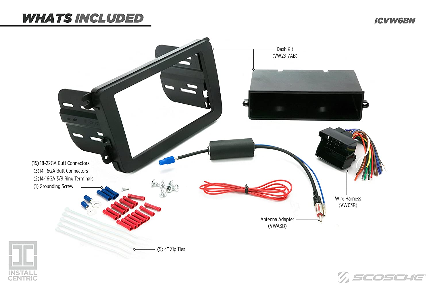 Install Centric Icvw6bn Volkswagen 2006 15 Complete Wiring Harness Installed Installation Kit Car Electronics