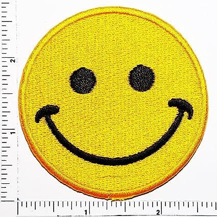 Amazon.com: Cara sonriente Emoji Patch Kids Cartoon Motif ...