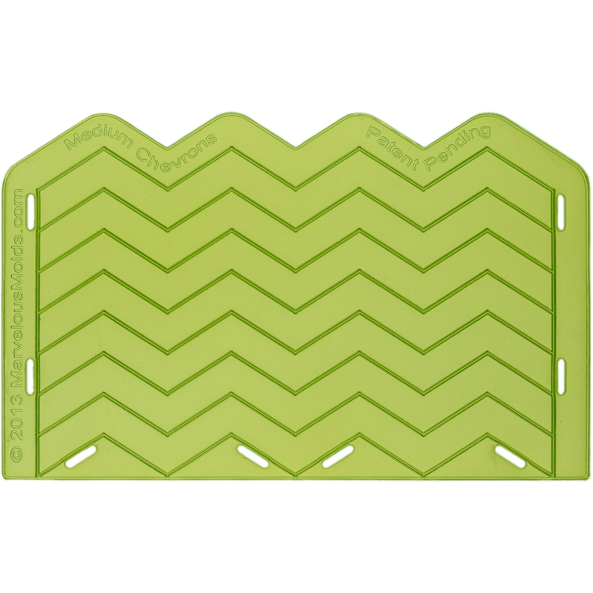Marvelous Molds Medium Chevron Silicone Onlay for Cake Decorating with Fondant and Gumpaste Icing