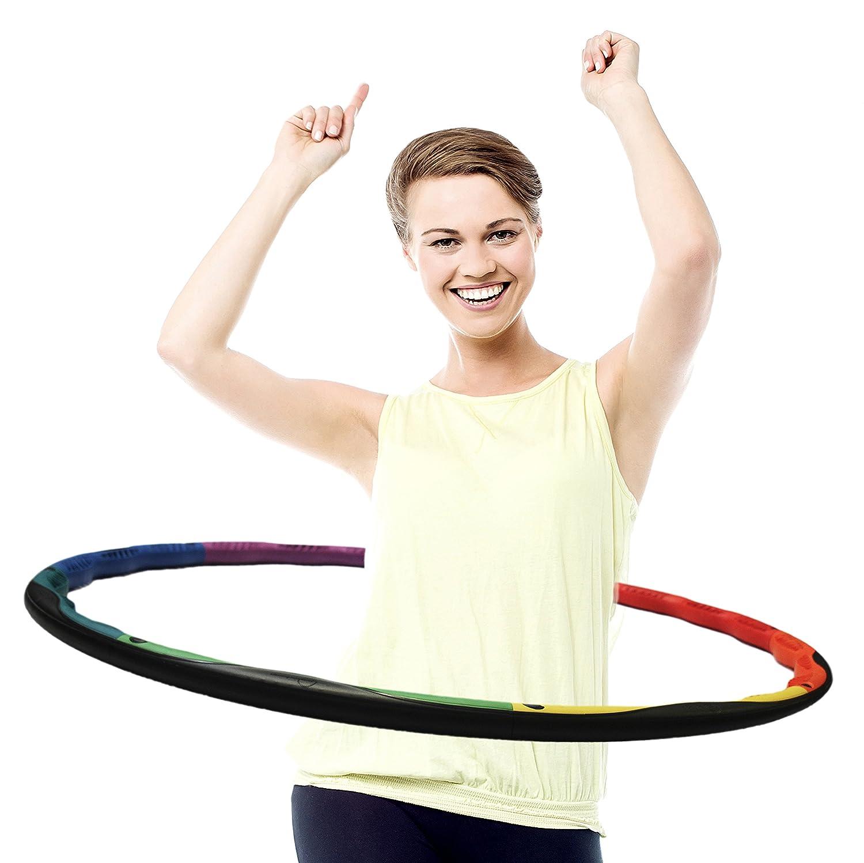 powerhoop deluxe fitness hula hoop with adjustable weight amazon co