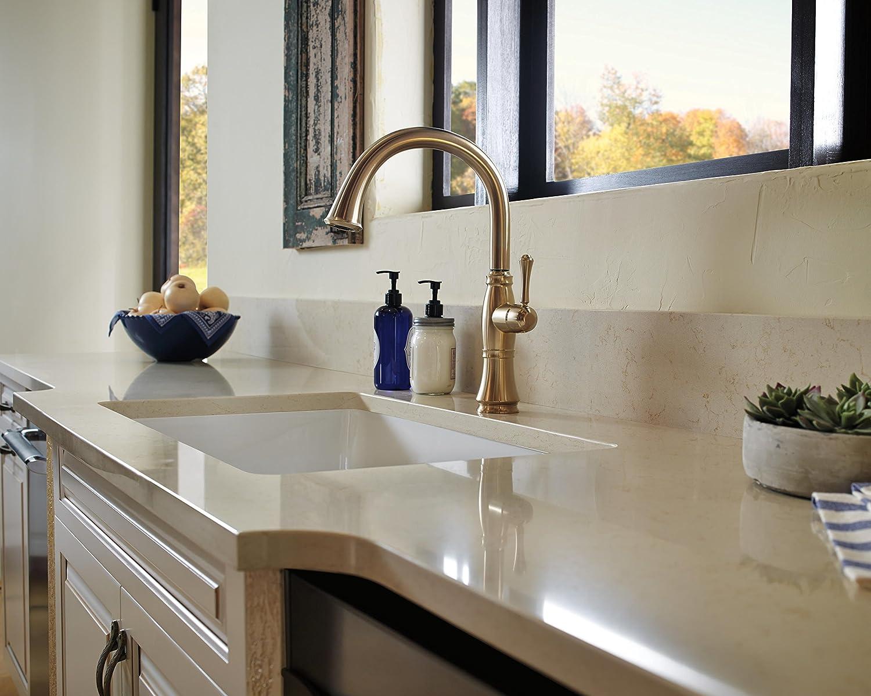 Delta Faucet 4297-CZ-DST Cassidy Single Handle Kitchen Faucet with ...