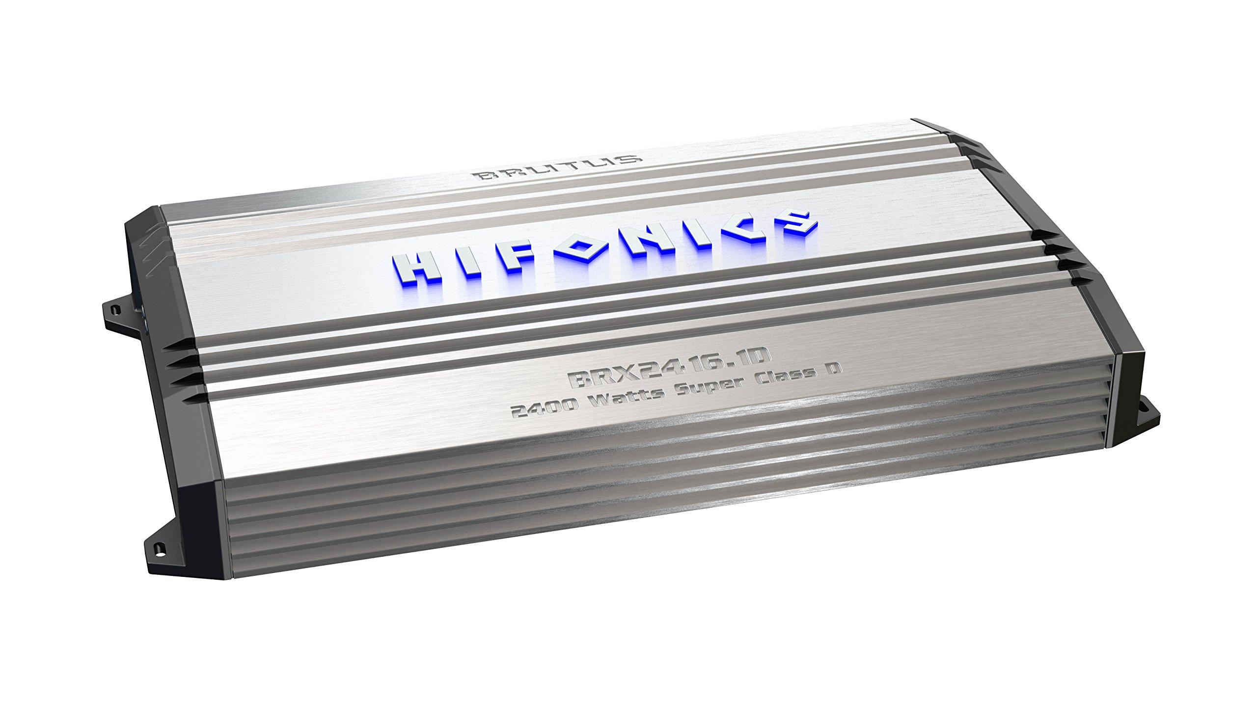 Hifonics BRX2416.1D Brutus Mono Super D-Class Subwoofer Amplifier, 2400-Watt