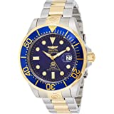 Invicta Men's Pro Diver Steel and Gold Tone Stainless Steel Automatic Watch, Two Tone/Blue (Model: 3049)