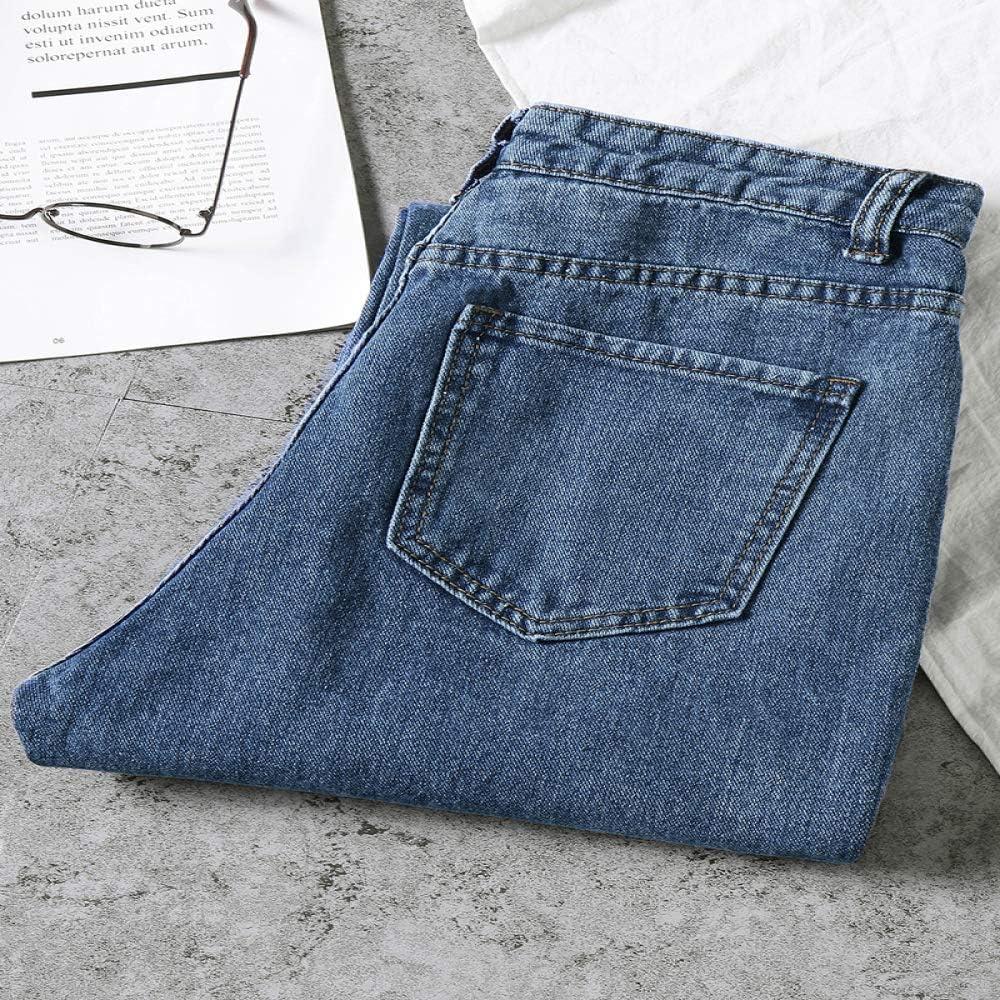 nobrand Jeans Donna Jeans Mamma Allentata Vita Alta Streetwear Fidanzati Jeans Donna Denim Lavato Pantaloni Lunghi Jeans Slouchy