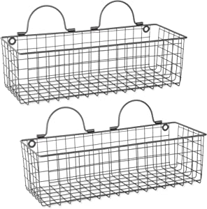 DII Z02022 Vintage Wire Wall Basket, Medium, Gray