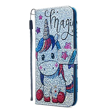 Unicorn Wallet Case for iPhone Xs Leather Cover Compatible with iPhone Xs