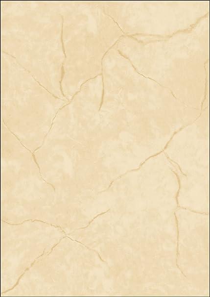 50 Bl. 200 g//qm Sigel® Marmor-Papier A4 beige