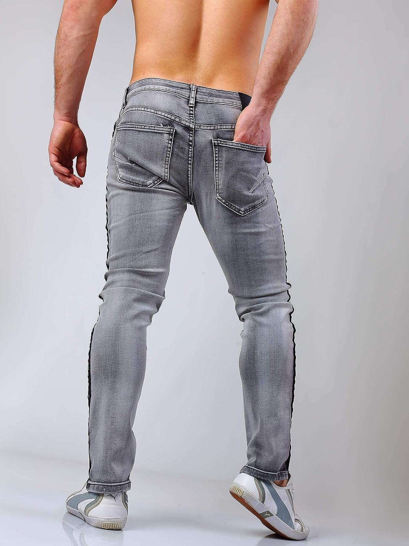 Instinct Jeans Uomo Skinny Slim Fit Stretti alla Caviglia 916