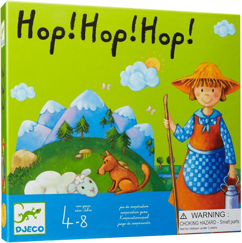 Djeco 81237 Hop! hop! hop! Juego de cooperación, Multicolor: Amazon.es: Juguetes y juegos