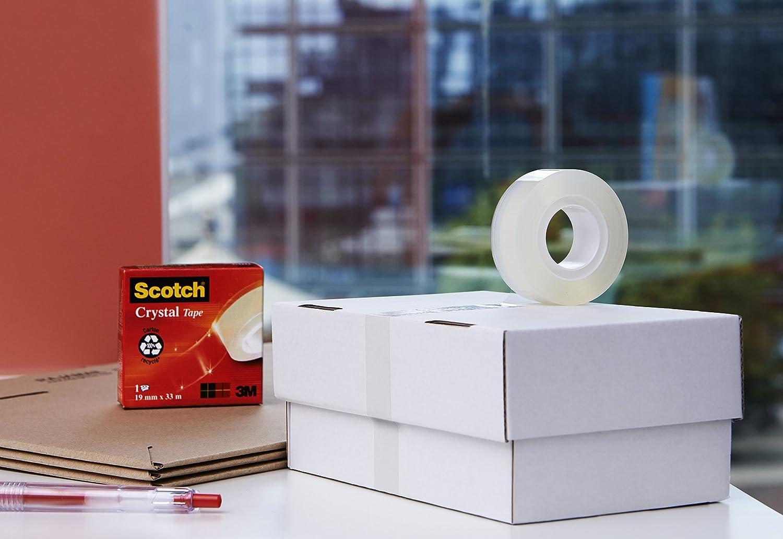 Scotch Ruban adh/ésif Ultra-transparent Se d/échire /à la main 3 rouleaux 19 mm x 25 m Import Royaume Uni