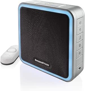 Honeywell Home RDWL917AX2000/E Doorbell Portable Wireless Doorbell & Push Button - 9 Series, Blue