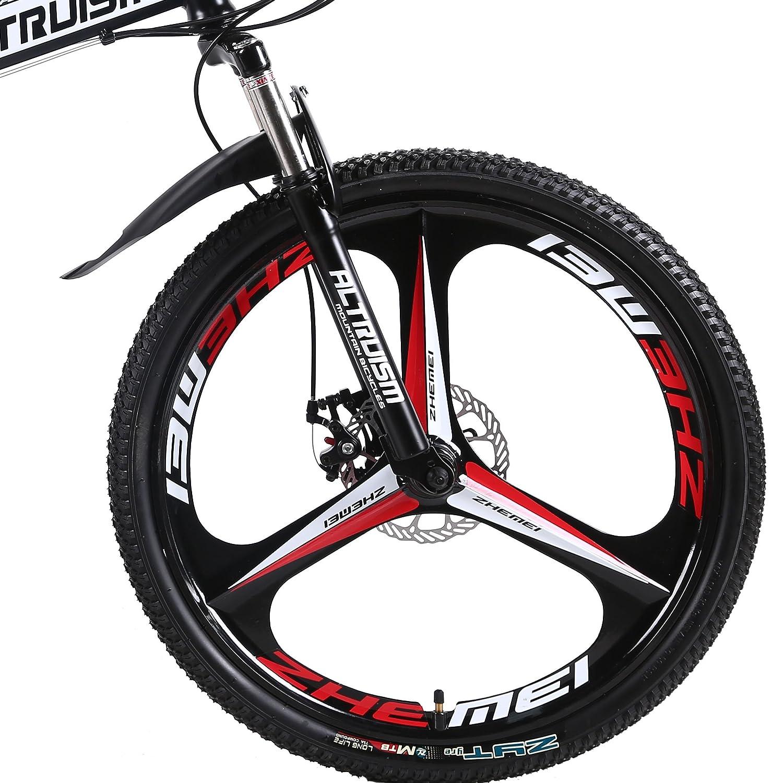 f9f3032137b Altruism X9 Pro Mountain Bikes 21 speed 26 inch Aluminum Double Disc Brake  Folding bicycles for mens womens bike (Black