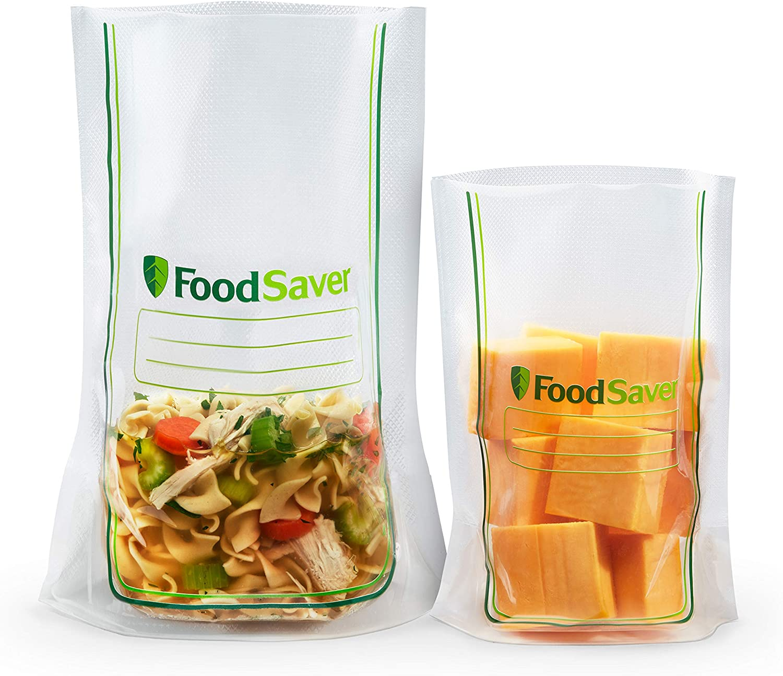 FoodSaver Easy Fill Vacuum Sealer Bags Multipack   Commercial Grade and Reusable   40 1-Quart Bags and 20 1-Gallon Bags