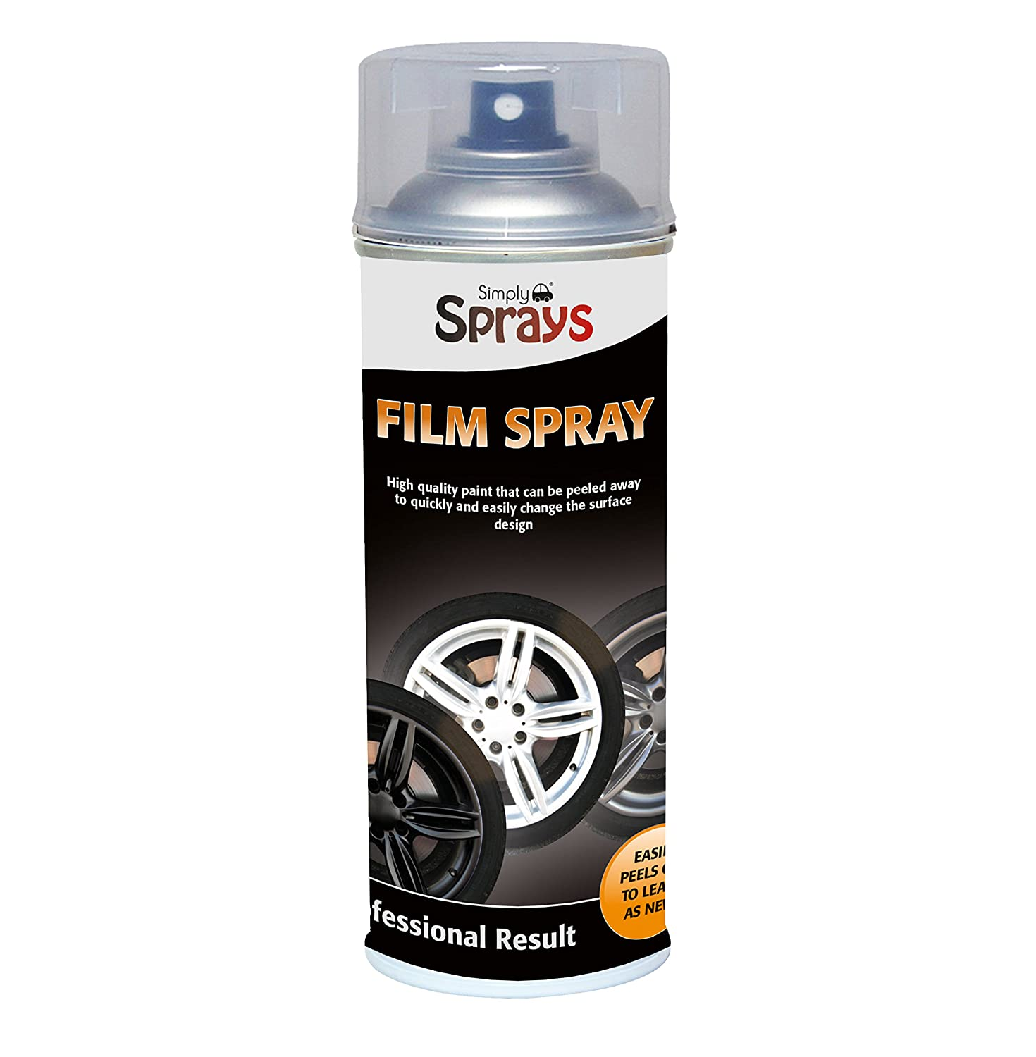 Simply SP-041 Car Silver Film Spray High Quality Paint Quickly and Easily Change Surface and Can Simply Be Peeled Away, Leaves no Residue for Blank Metal, Paintable Hard Plastics and Glasses 400ML
