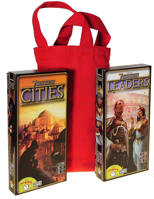 【2018年製 新品】 Leaders and Items Cities Expansions for Cities 7 7 Wonder Game Bonus Red Canvas Carry Bag with Handle Bundled Items B07FFJ1DT4, オバラ住設:287daea1 --- turtleskin-eu.access.secure-ssl-servers.info