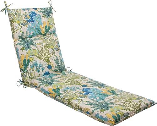 Pillow Perfect Outdoor/Indoor Splish Splash Marina Chaise Lounge Cushion