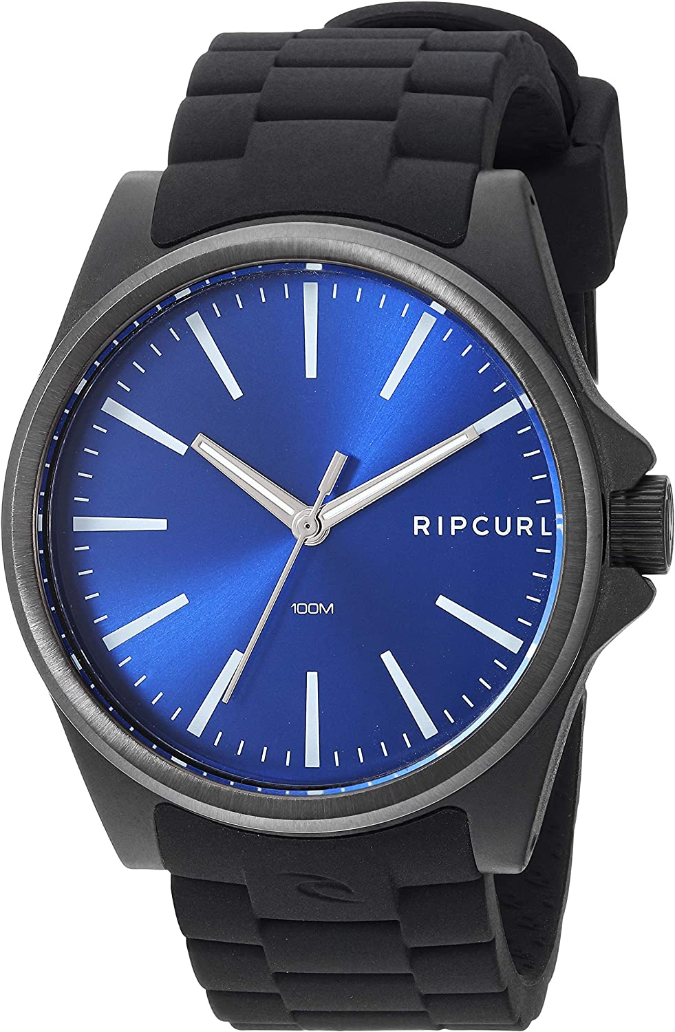 Rip Curl Men s Quartz Sport Watch with Silicone Strap, Black, 22.1 Model A3120BLU1SZ