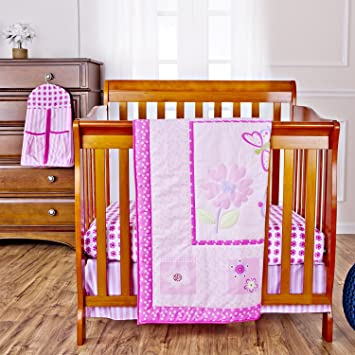 Amazon Com Dream On Me Pink Butterfly And Flower 5 Piece Set