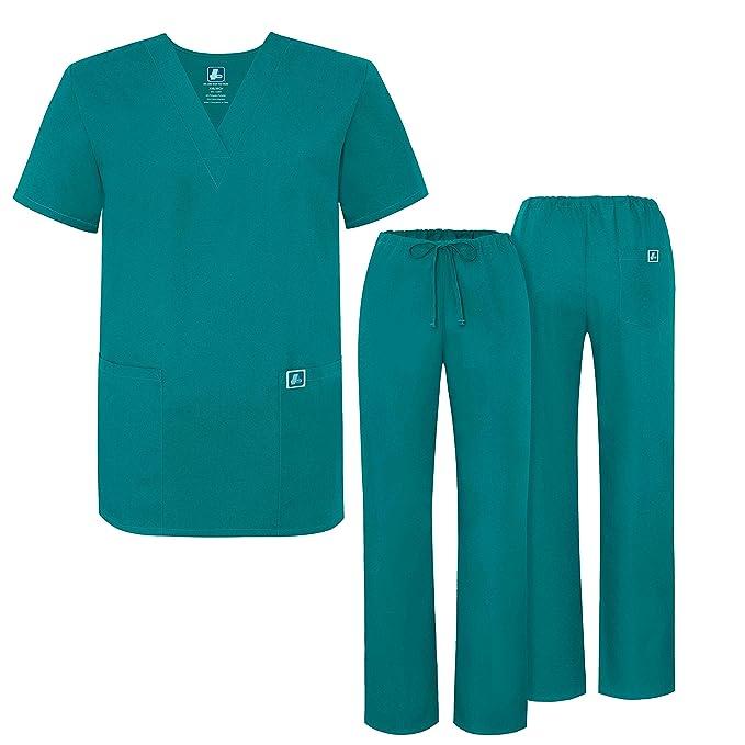 Uniforme Médico Unisex con Casaca y Pantalones - 701 Color TBL | Talla: M