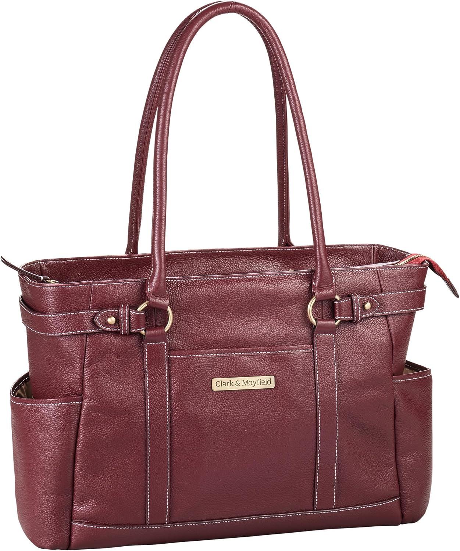 """Clark & Mayfield Hawthorne Leather Laptop Handbag 17.3"""""""