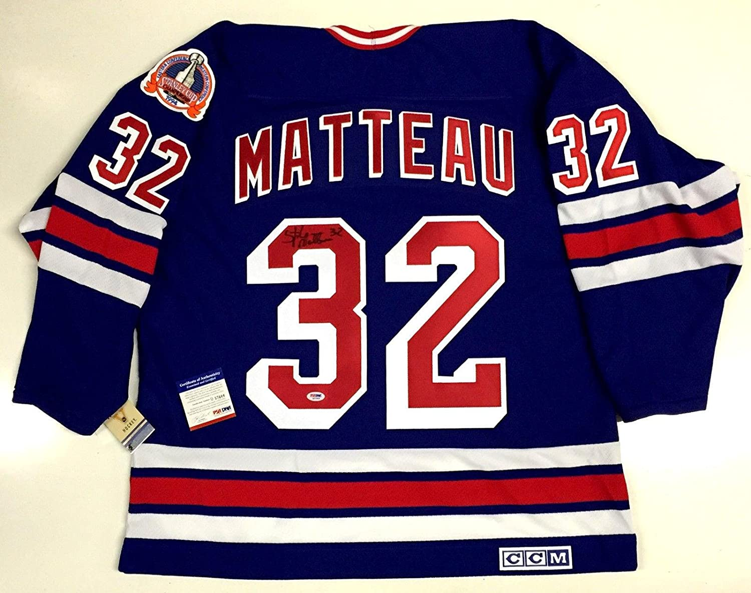 edd1c7314 Amazon.com  Stephane Matteau Signed Jersey - 1994 Cup Ccm Vintage Coa -  PSA DNA Certified - 5  Sports Collectibles