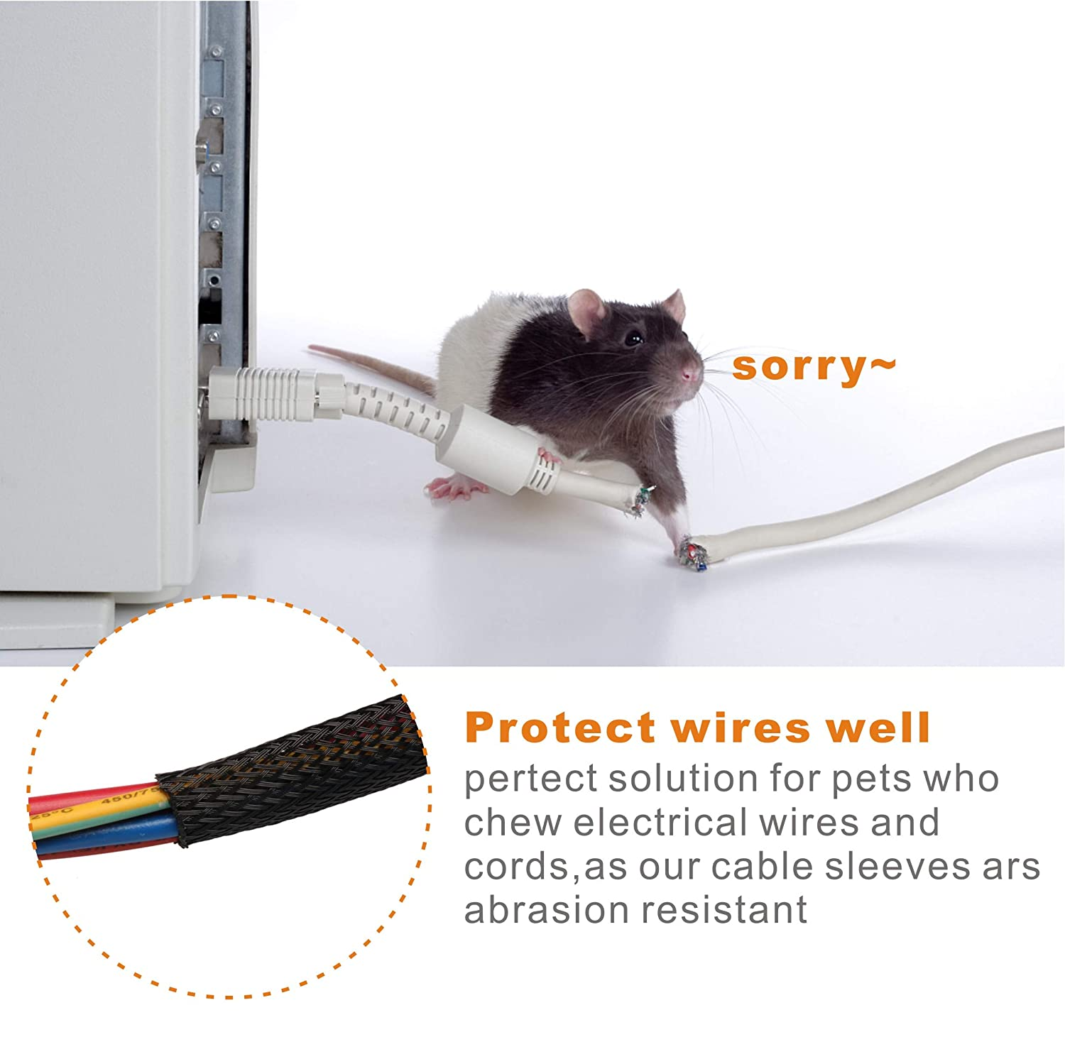 100ft 5 8inch Nylon Expandable Braided Cable Sleevingbraided Wire Wiring Loom Sleeve Sleevecable Sheath Mesh Iztoss