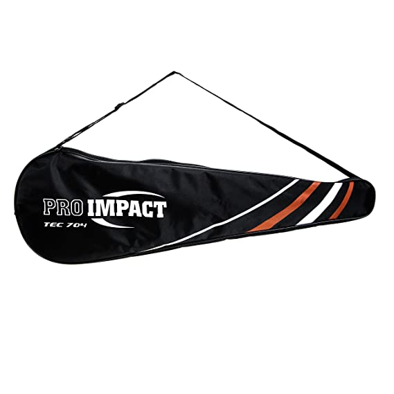 Amazon.com : Pro Impact Graphite Squash Racket - Full Size with Carry On Cover and Durable Strings - Made of Pure Graphite Designed to Improve Gameplay for ...