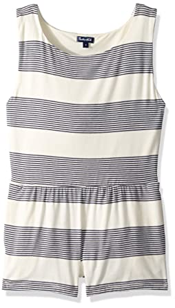624bba5393b16 Splendid Big Girls' Romper with Pockets Swimsuit Cover Up, Fresh Prints  Navy, ...